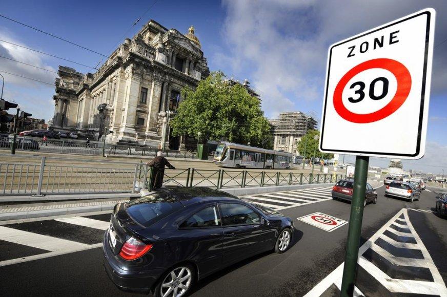 Greičio apribojimas Briuselyje