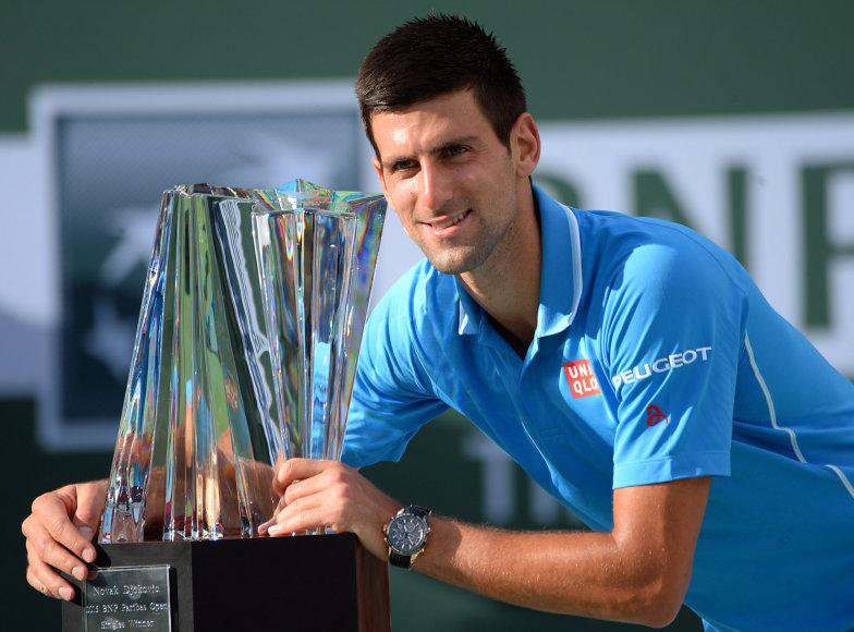 """Novakas Džokovičius ketvirtą kartą tapo """"BNP Paribas Open"""" čempionu"""