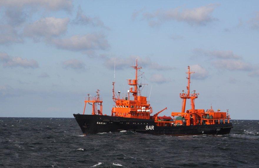 """Laivas """"Šakiai"""" dalyvavo tarptautinėse paieškos ir gelbėjimo pratybose"""