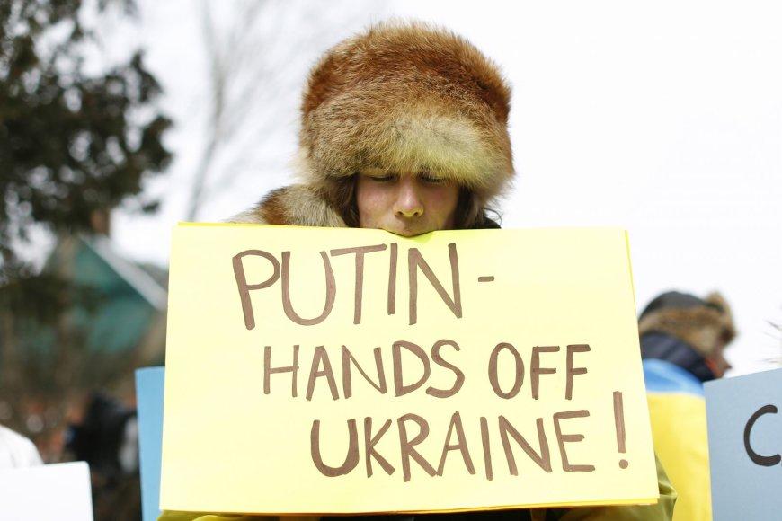 Plakatas, skirtas V.Putinui
