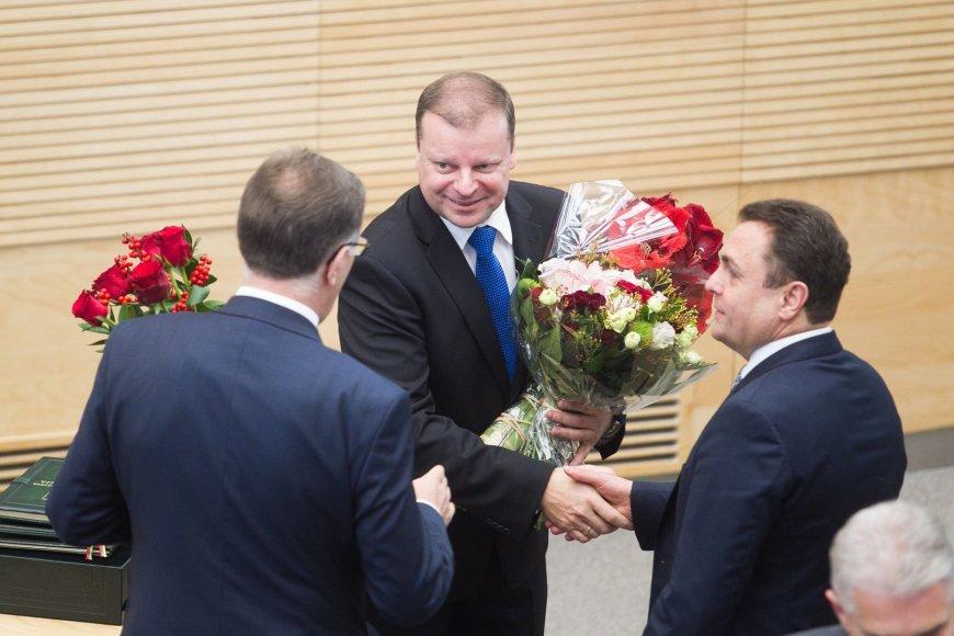 Seime prisiekė naujasis vidaus reikalų ministras Saulius Skvernelis