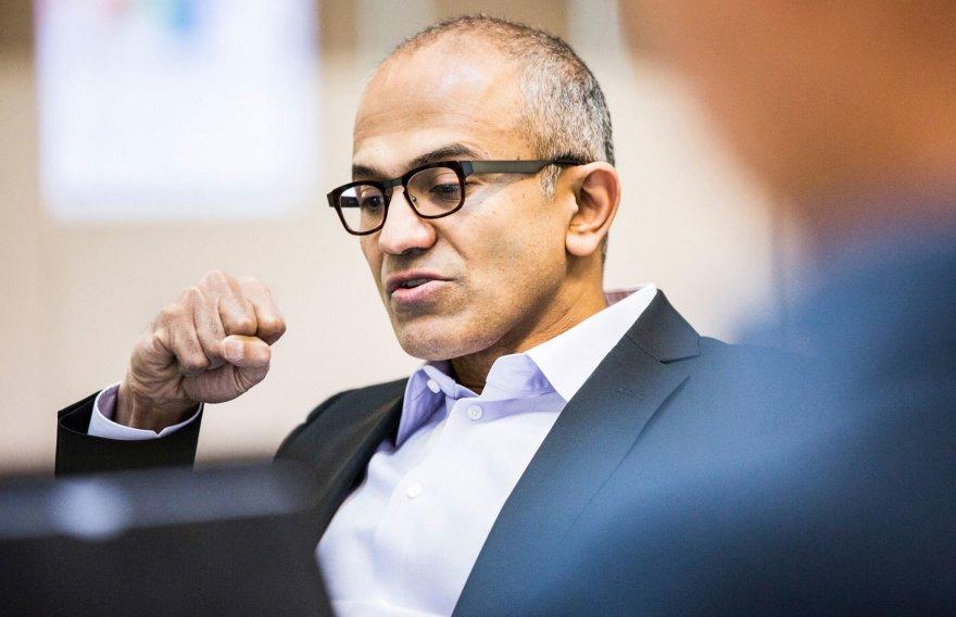 """Naujasis """"Microsoft"""" vadovas Satya Nadella"""