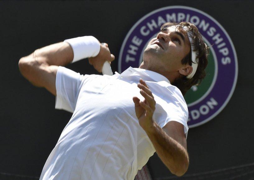 Rogeris Federeris Vimbldone siekia aštunto čempiono titulo