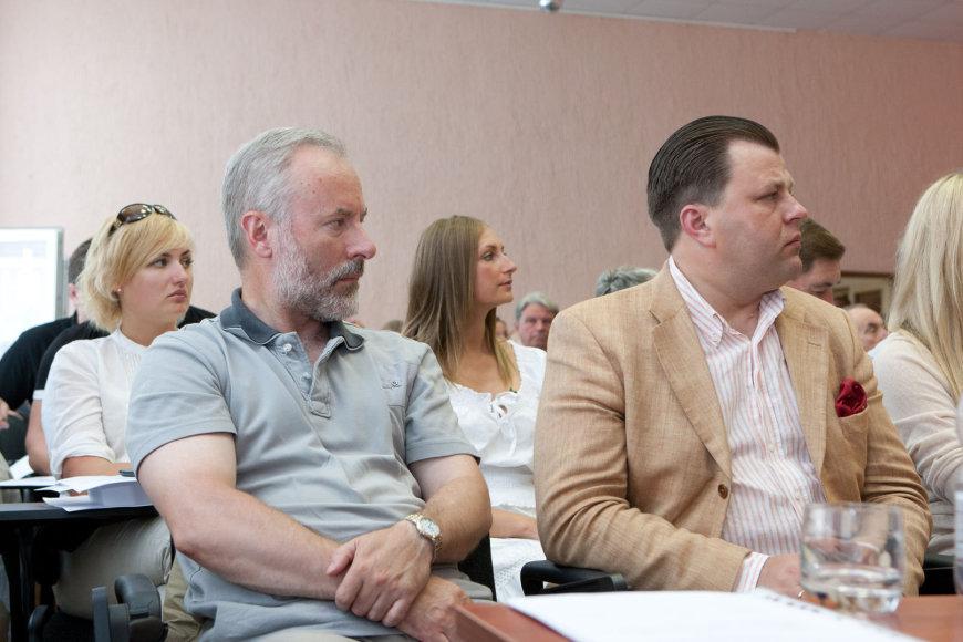 Jurgis Razma (kairėje) ir Mantas Adomėnas