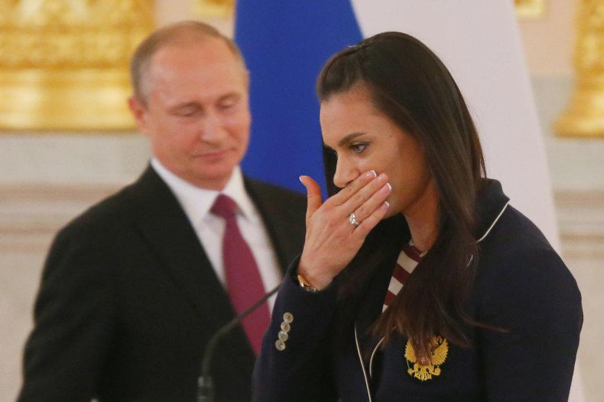 Vladimiras Putinas ir Jelena Isinbajeva