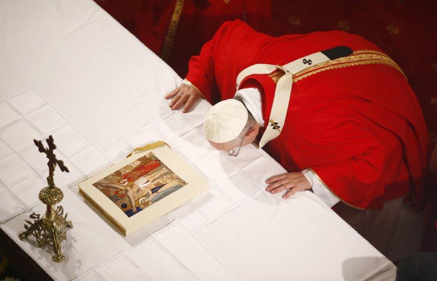 Popiežius Pranciškus Sofijos sobore