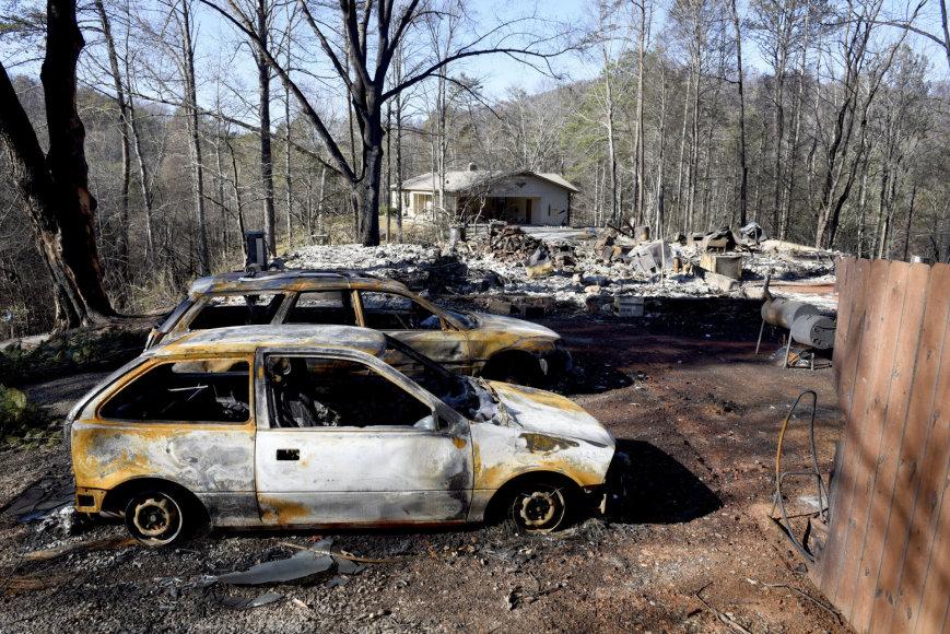 JAV Tenesio valstijoje siautėjo gaisrai