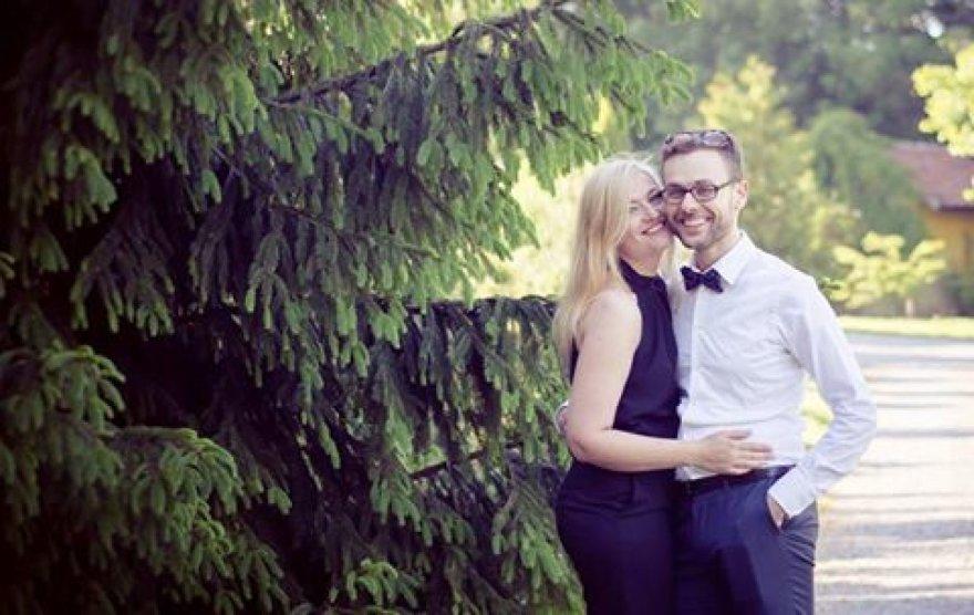 Folkloro šventėje Neringoje susituoks klaipėdiečiai Donata ir Valmantas.