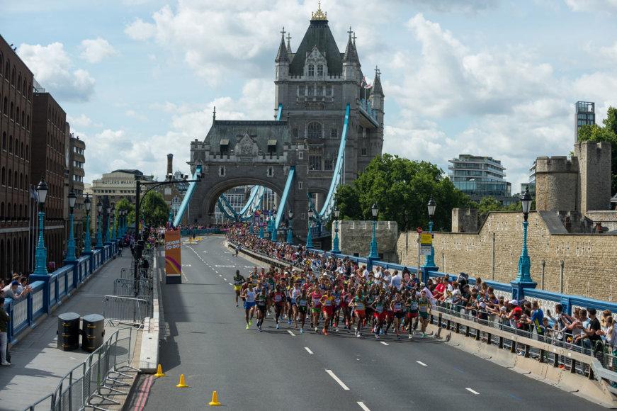 Vyrų maratono bėgimas