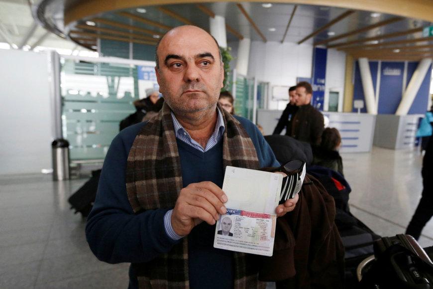 Irakietis, kuris iš Egipto turėjo grįžti į namo, kai buvo neįleistas į lėktuvą į JAV