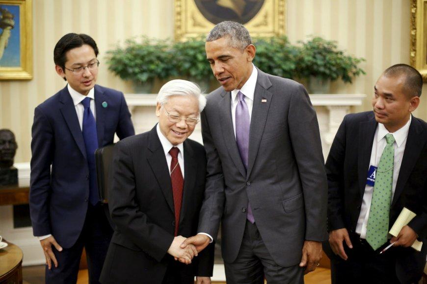 Barackas Obama ir Nguyen Phu Trong