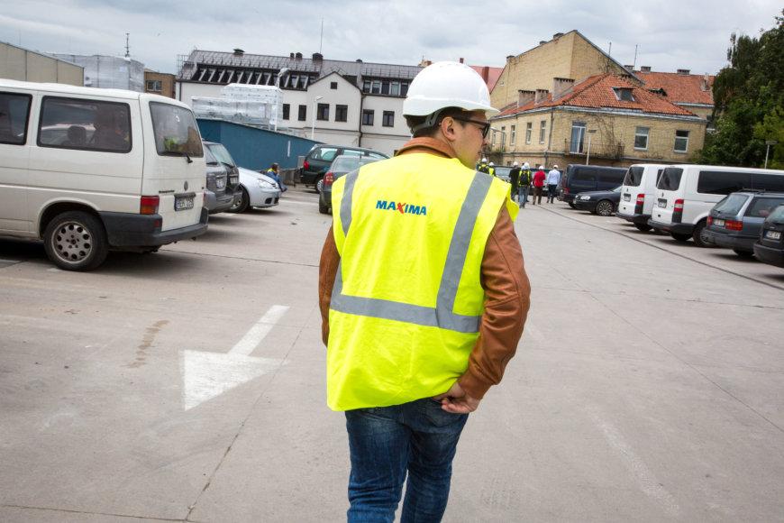 """Rekonstruojamas prekybos centras """"Maxima"""" Mindaugo gatvėje"""