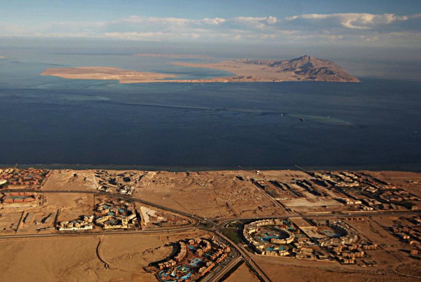 Tirano (apačioje) ir Sanafyro salos bus perduotos Saudo Arabijai