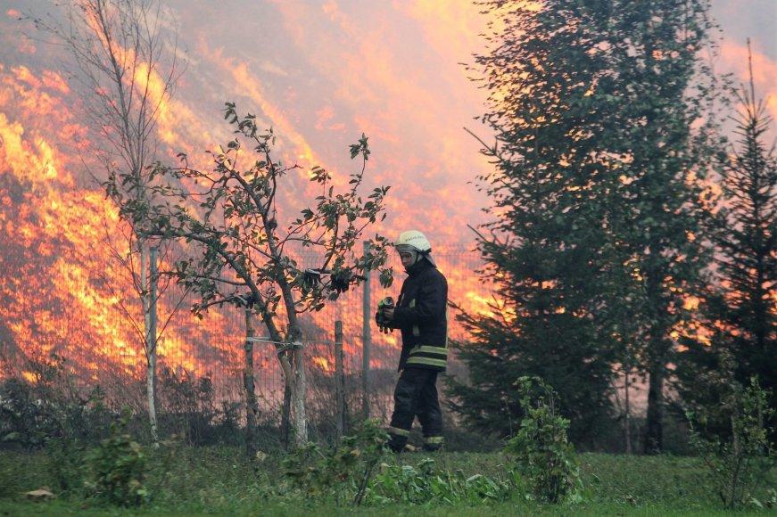 Ekstremalus gaisras Radviliškyje
