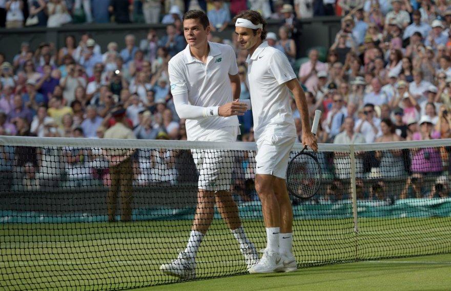 Rogeris Federeris nugalėjo Milošą Raoničių ir pateko į Vimbldono finalą