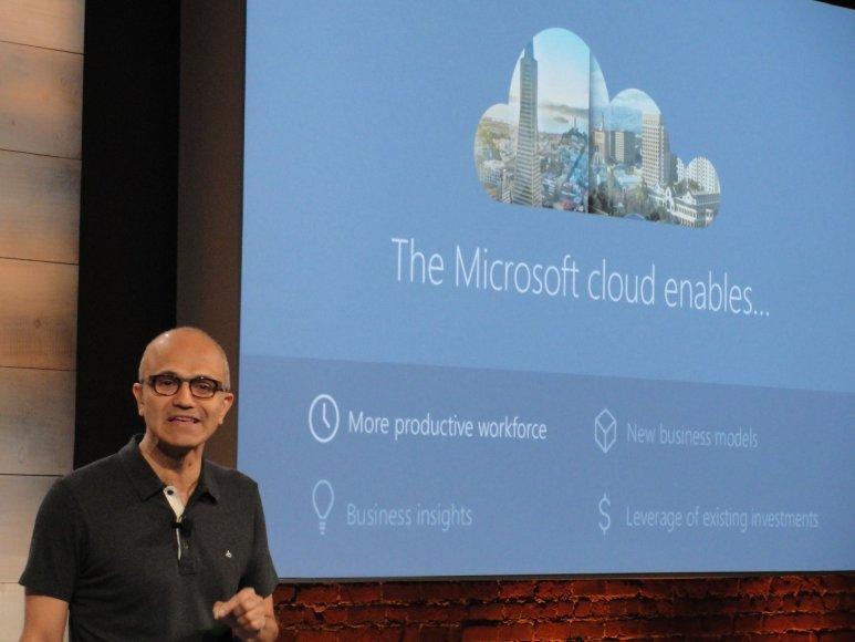 "Satya Nadella pristato ""Microsoft"" debesies galimybes"