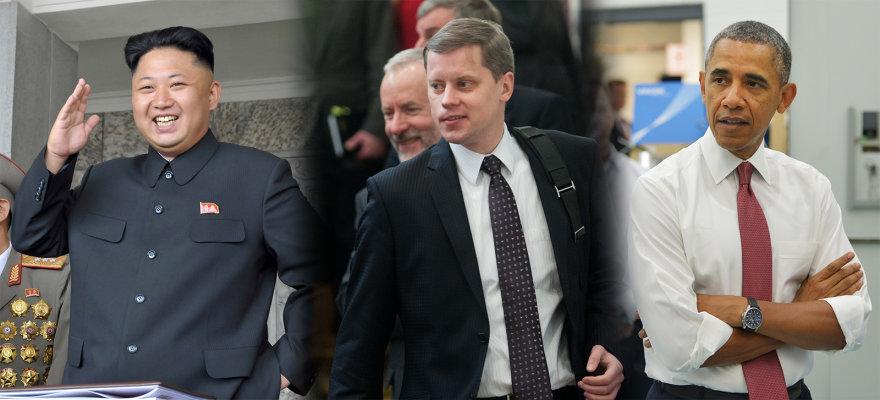 Andrius Kupčinskas, Kim Jong-Unas ir Barackas Obama