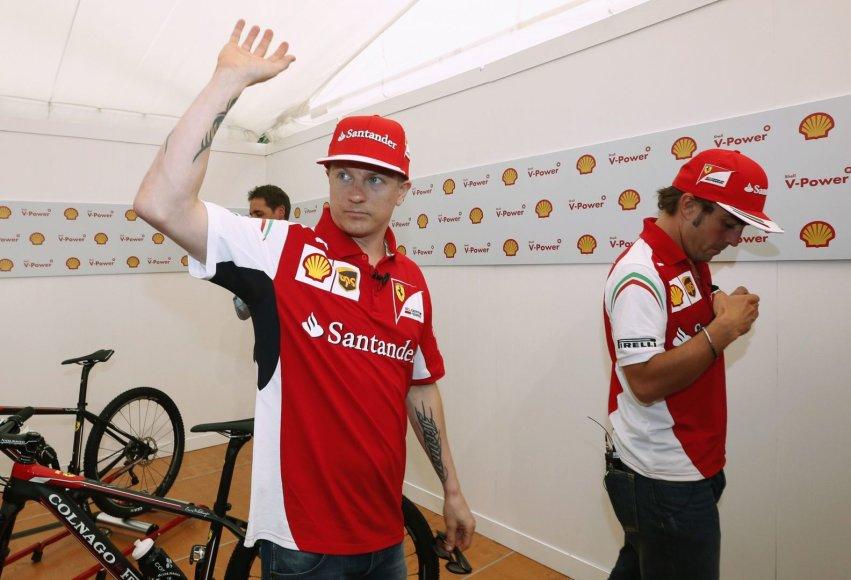 Kimi Raikkonenas ir Fernando Alonso