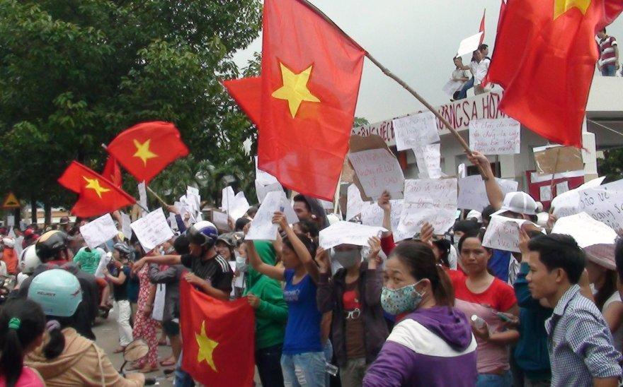 Protestuotojai Vietname