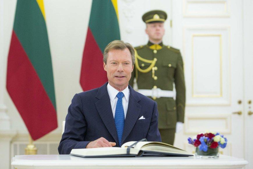 Prezidentė Dalia Grybauskaitė Prezidentūroje susitiko su Liuksemburgo Didžiuoju Hercogu Henriu