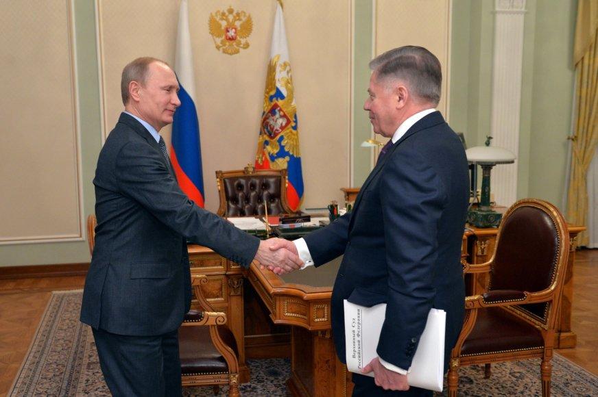 Vladimiras Putinas susitiko su teisėju Viačeslavu Lebedevu