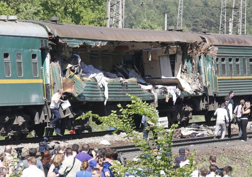 Netoli Maskvos susidūrė traukiniai
