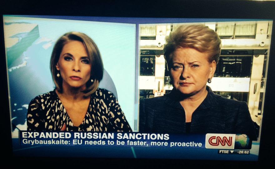 Dalia Grybauskaitė davė interviu CNN