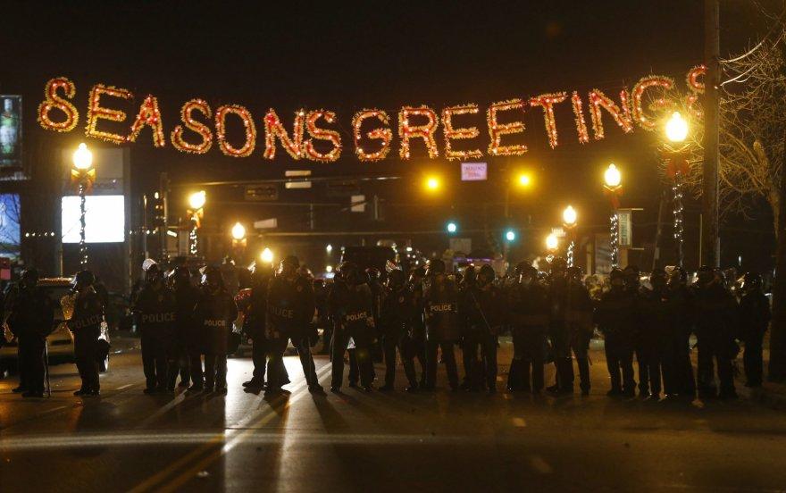 Policininkai Fergusone