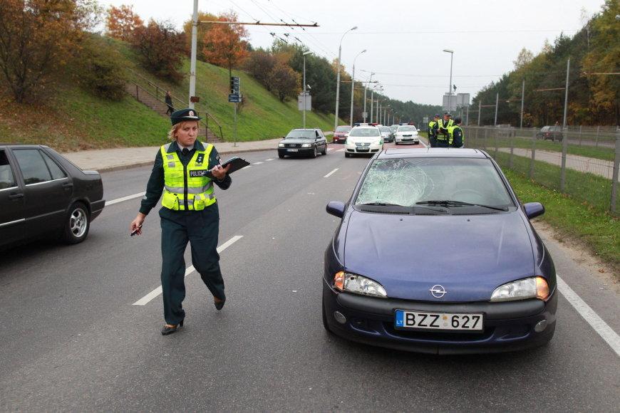 Avarija Vilniaus T.Narbuto gatvėje