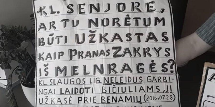 Piketo dėl Prano Zakrio plakatas