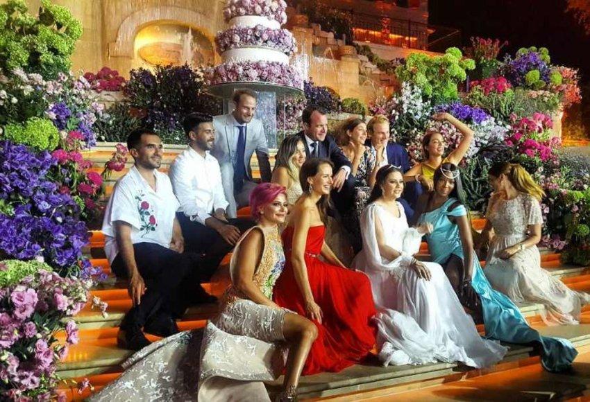 Pompastiškos Carol Sabbagha vestuvės Libane