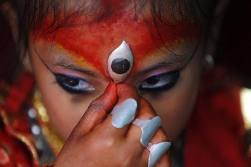 """Katmandu """"gyvoji deivė"""""""