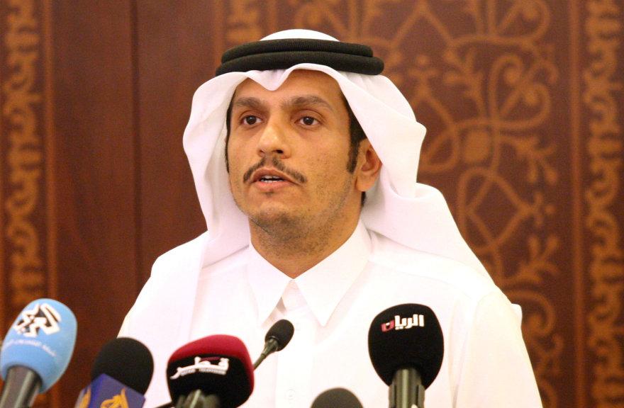 Kataro diplomatijos vadovas šeichas Mohammedas bin Abdulrahmanas al Thani