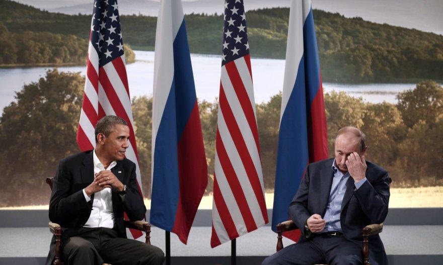 Barackas Obama ir Vladimiras Putinas