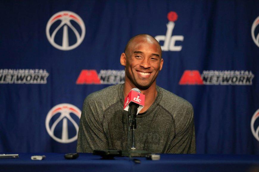 Kobe Bryantas spaudos konferencijoje