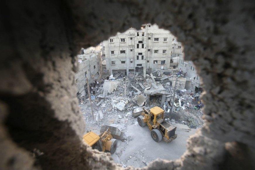 Izraelio oro atakų padariniai Gazos Ruože