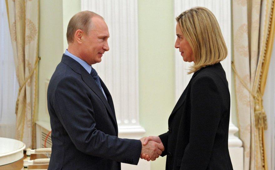 Vladimiras Putinas ir Federica Mogherini
