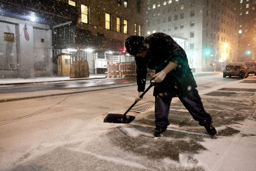 Sniego audra Niujorke 2014 m. sausio 03 d.