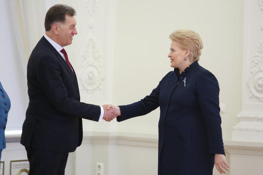 Juliaus Kalinsko/15min.lt nuotr./Algirdas Butkevičius ir Dalia Grybauskaitė