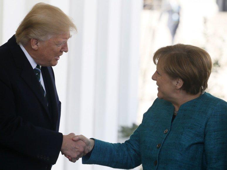 Donaldas Trumpas ir Angela Merkel