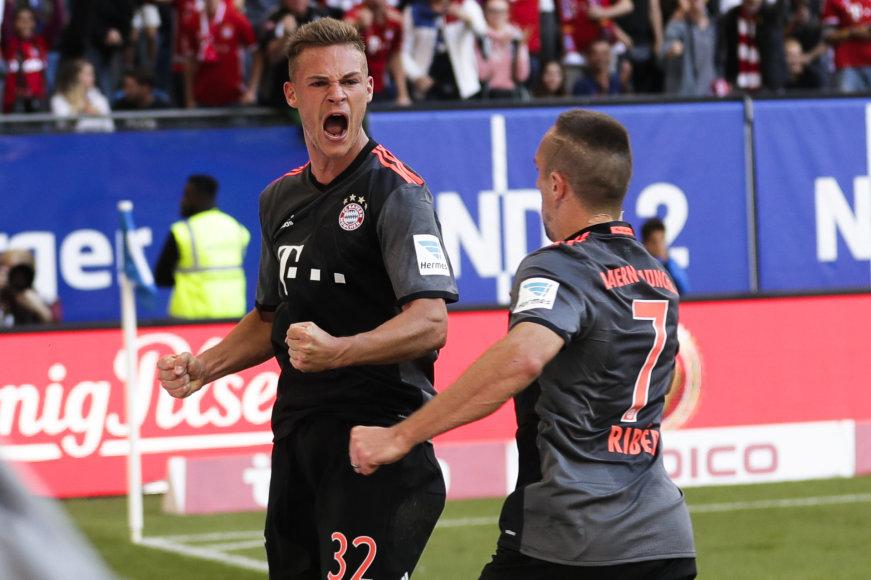"""Joshua Kimmichas išplėšė """"Bayern"""" pergalę"""