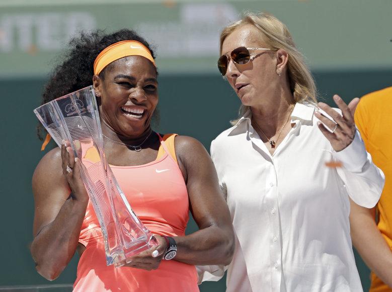 Serena Williams ir Martina Navratilova