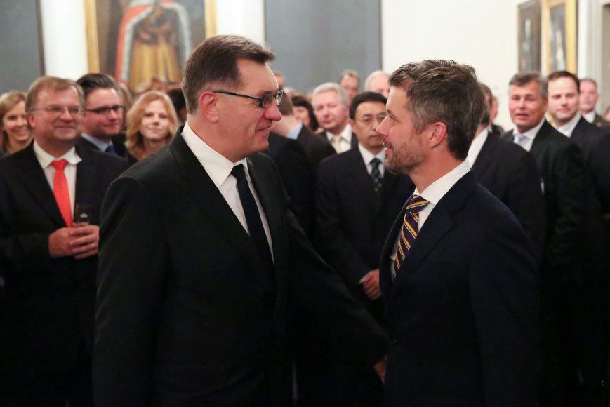 Algirdas Butkevičius ir Danijos princas Frederikas