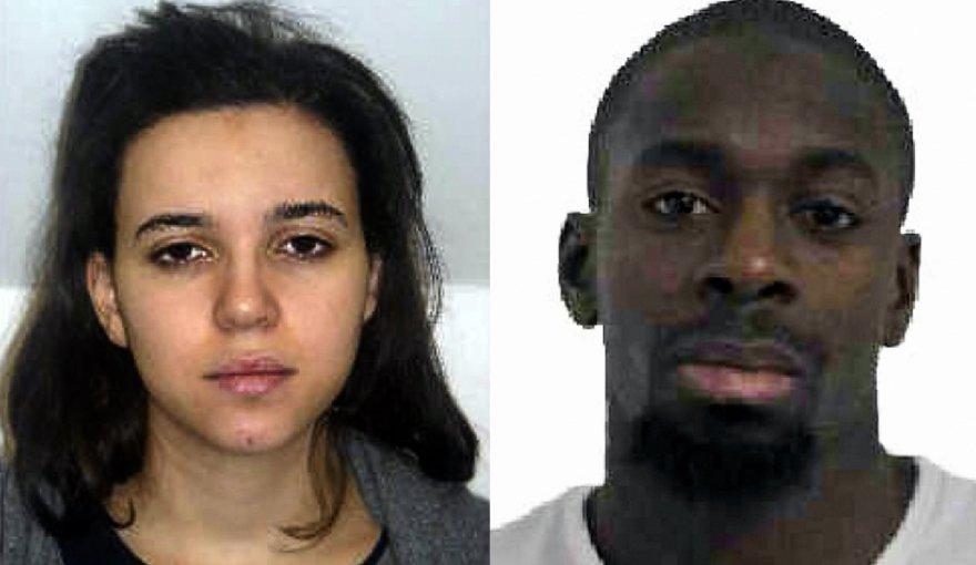 Įtariamieji dėl Paryžiaus policininkė nužudymo: Hayat Boumeddiene ir Amedy Coulibaly