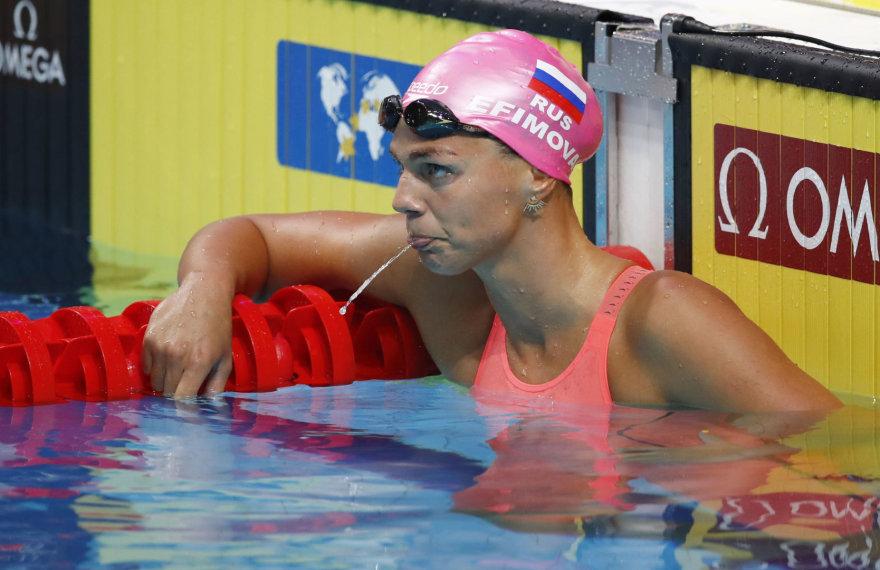 Julija Jefimova pasaulio čempionate finišavo trečia.
