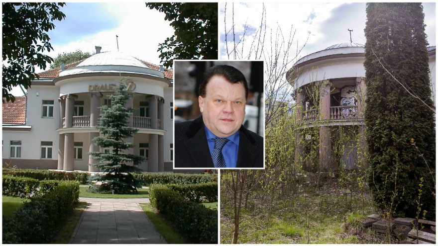 Vilniaus centre stovi apleistas R.Baranauskui ir jo žmonai priklausantis namas