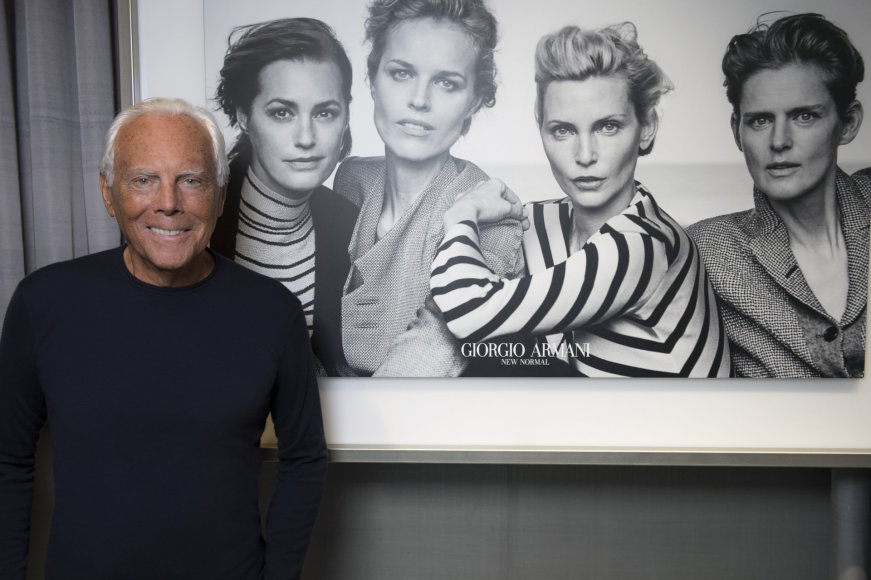 """""""Giorgio Armani""""/Peter Lindbergh nuotr./Giorgio Armani ir """"New Normal"""" kolekcijos reklaminė nuotrauka"""