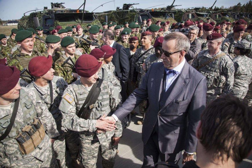 Estijoje į Emario karinę bazę atvyko 150 JAV desantininkų