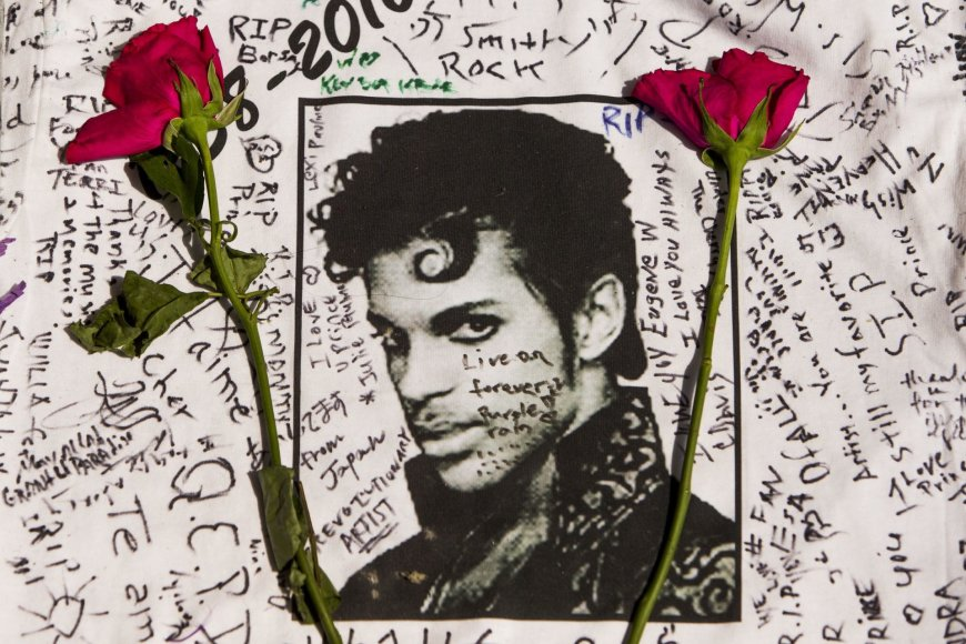 Gerbėjai gedi mirusio dainininko Prince