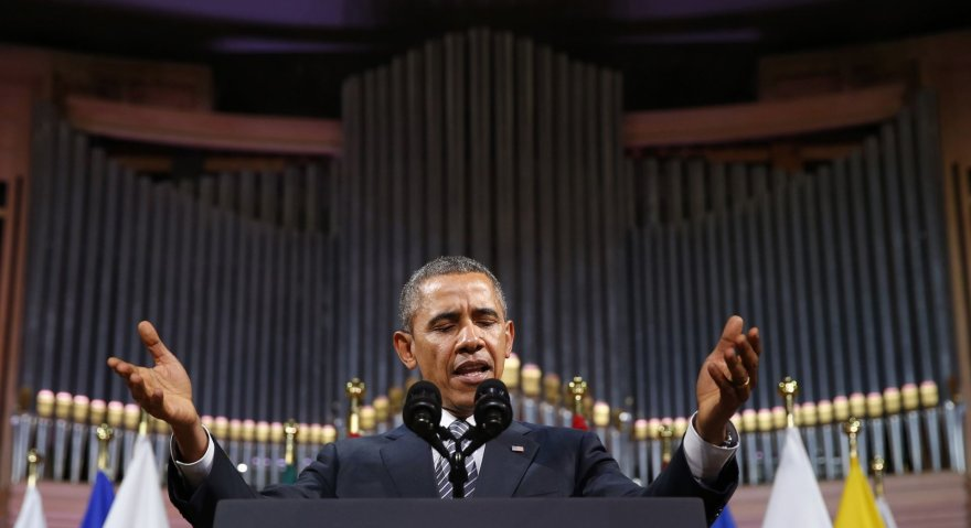Barackas Obama Briuselyje
